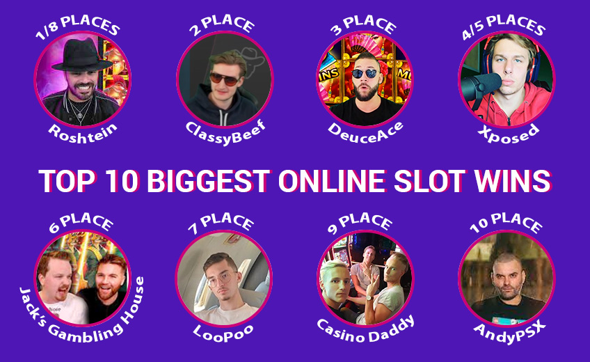 TOP 10 Biggest Online Slot Wins of August (from 1 August to 15 August)