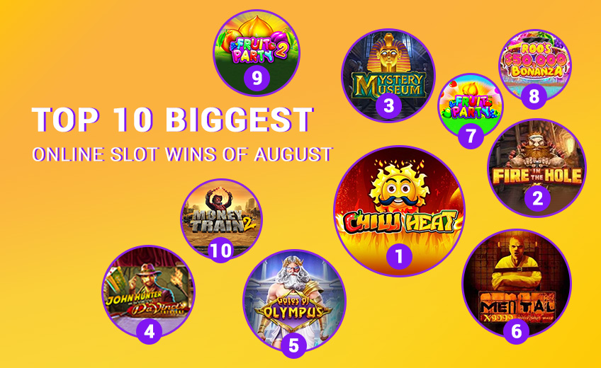TOP 10 Biggest Online Slot Wins of August 2021 (from 16 August to 31 August)